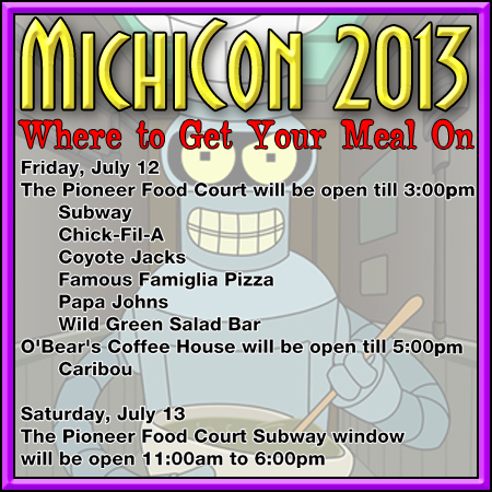 Food Vendors at MichiCon 2013